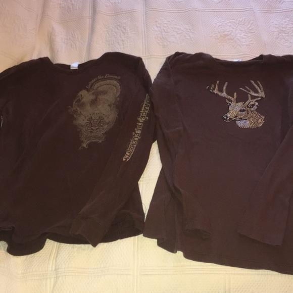 Women outdoor turkey deer bling tee shirts